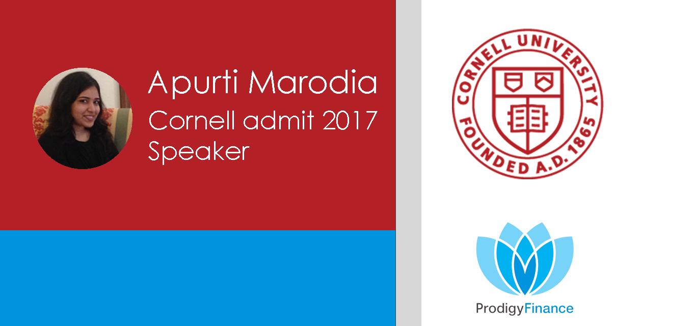 Apurti, Cornell University admit 2017 - Prodigy Finance loan Experience #1 cover pic